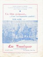 """LIEGE 1957 - Programme Cinéma """"CINE-FORUM"""" - La Tunique Avec VICTOR MATURE - Programmes"""