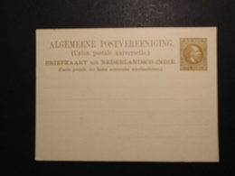 Niedrländisch Indien GA Karte 7 1/2 Cent Braun-König Wilhelm- */ungelaufen K - Indes Néerlandaises