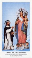 Castrofilippo (Agrigento) - Santino MARIA SS. DEL ROSARIO - PERFETTO P91 - Religione & Esoterismo