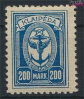 Memelgebiet 155 Avec Charnière 1923 Port Memel (9284335 (9284335 - Klaïpeda