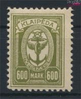 Memelgebiet 159 Avec Charnière 1923 Port Memel (9284333 (9284333 - Klaipeda