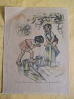 """GERMAINE BOURET AFFICHETTE """" BOIS PAS TOUT, PENSE UN PEU AUX GRNOUILLES"""" DATEE 1937-38 - Posters"""
