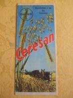 """DEPLIANT PUBLICITAIRE """"CERESAN"""" DESINFECTION A SEC DES SEMENCES LABORATOIRE BAYER - Advertising"""