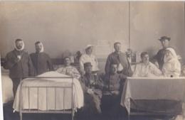 Carte Photo :  Soldats Et Infirmières Dans L'hopital Militaire De Belfort En 1917 - Guerre 1914-18