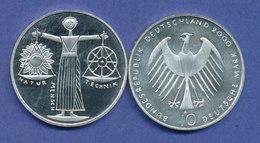 Bundesrepublik 10DM Silber-Gedenkmünze, EXPO 2000 Hannover - [ 7] 1949-…: BRD
