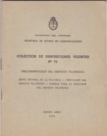 REGLAMENTACION DEL SERVICIO FILATELICO, MINISTERIO INTERIOR, BUENOS AIRES 1969 48 PAG - BLEUP - Administraciones Postales