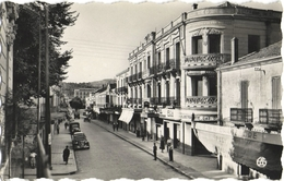 CPSM DE TIARET  (ALGERIE)  LA RUE BUGEAUD - Tiaret