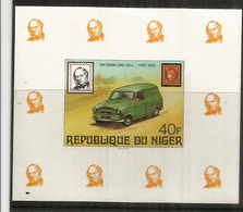 Voiture Postale Du Niger, Bloc-feuillet Neuf ** - Voitures