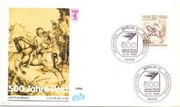 BERLIN FDC POSTE  1990 COVER (FEB190005) - FDC: Briefe