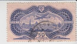 FRANCE.  POSTE AERIENNE Yv N° 15. BURELAGE RENVERSÉ. 425€. AMINCI AU CENTRE - Stamps