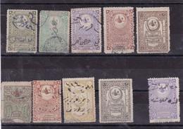 Lot De 15 Timbres Fiscaux Empire Ottoman - 1858-1921 Empire Ottoman