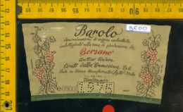 Etichetta Vino Liquore Barolo 1975 Bersano Nizza Monferrato AT - Altri