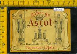 Etichetta Albergo Hotel Ascot Firenze - Altri
