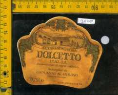 Etichetta Vino Liquore Dolcetto D'Alba Poderi Scanavino-Priocca - Altri