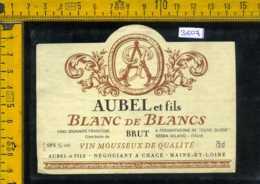 Etichetta Vino Liquore Blanc De Blancs Aubel- Francia - Altri