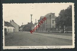 Quevaucamps. (Beloeil)  Ecole Communale. Rue Joseph Wauters. Animée. Voyagé, 2 Scans - Beloeil