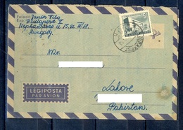 X130- Postal Used Aerrograme. Posted From Magyar Hungary To Pakistan. Building. - Hungary