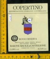 Etichetta Vino Liquore Rosso Riserva-Barone B. Di Castiglione-Copertino - Altri