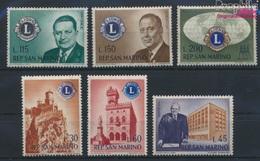 San Marino 659-664 (kompl.Ausg.) Postfrisch 1960 Gründung Eines Lions-Clubs (9283599 - Neufs