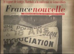 """Journal """"France Nouvelle - Parti Communiste - Novembre 1961- Georges Marchais à Genevilliers - Journaux - Quotidiens"""