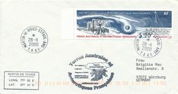 MARTIN-de-VIVIES - St. PAUL - T.A.A.F - 2000 , Nach Würzburg - Französische Süd- Und Antarktisgebiete (TAAF)
