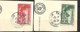 France 1937 Victoire De Samothrace Cat Yt N° 354  Et 355   Oblitérés - France