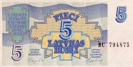 Latvia 5 Rubli, P-37 (1992) - UNC - Latvia