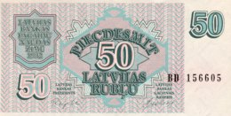 Latvia 50 Rublu, P-40 (1992) - UNC - Latvia