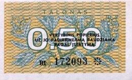 Lithuania 0.50 Talonas, P-31b (1991) - UNC - Lituanie