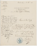 Mairie De Bernardswiller 1868 Canton De Barr Dépendance De Baumgarten Au Lieu De Pommert - Historical Documents