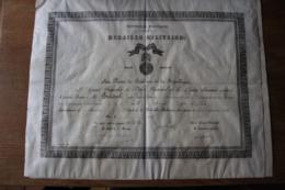 2 Diplomes Militaires 1900  Dont   Ministere De La Marine F - Diplômes & Bulletins Scolaires