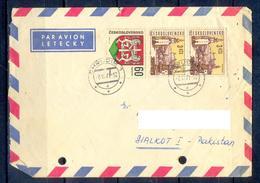 X148- Postal Used Cover. Posted From Czechoslovakia To Pakistan. Building. - Czechoslovakia