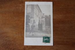Carte Photo  Flamarens  Maison Bourgeoise Animée Vers 1905 - France