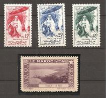 MAROC  Série De Timbres Yt390... +1 VignettePARFAIT ETAT  R/V - Marruecos (1956-...)