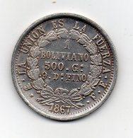 Bolivia - 1867 - 1 Boliviano - RIPRODUZIONE - Vedi Foto - (MW2019) - Bolivia