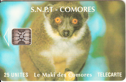 COMOROS ISL. - Maki, Chip SC5, CN : C49100922, Used - Comoren