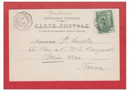 """POSTE MARITIME -- """" LOANGO A BORDEAUX LL N°3"""" SUR CP DE LIBREVILLE CONGO FRANCAIS-- 1904--TB-- - Poststempel (Briefe)"""