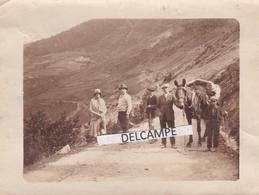 ANDORRE 1931 - Photo Originale D'une Caravane De Touriste Sur La Route De SOLDEN à L'HOSPITALET - Orte