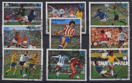PARAGUAY 1979, Yv.  1682/8, PA 813/4,  COUPES DU MONDE DE FOOTBALL, 9 Valeurs, Oblitérés / Used. R015xB - Coupe Du Monde
