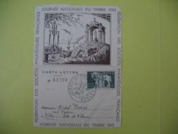 Carte-Lettre  - Journée Du Timbre  1943  Rennes - France