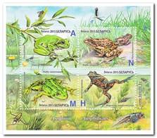 Wit Rusland 2015, Postfris MNH, Frogs, Amphibi - Wit-Rusland