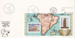 AMERICA MERIDI ONALIS. ESPAMER & ARBRAFEX BLOCK STAMP- FDC 1988 BUENOS AIRES, ARGENTINA. CARD - BLEUP - American Indians