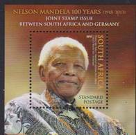 SOUTH AFRICA, 2018, MNH, JOINT ISSUE WITH GERMANY, NELSON MANDELA, S/SHEET - Joint Issues