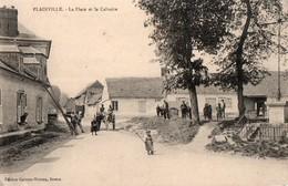 PLAINVILLE  -- La Place Et Le Calvaire - France