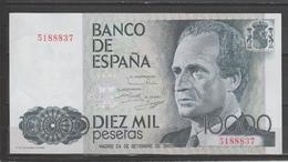 ESPAÑA BILLETE DE 10.000Pts. AÑO 1985. ESTADO DE CONSERBACIÓN PLANCHA. - [ 4] 1975-… : Juan Carlos I