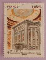 """FRANCE YT 4737 OBLITERE ANNEE 2013 """" CENTENAIRE DU THEATRE DES CHAMPS ELYSEES"""" - France"""
