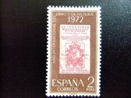 España Spain Espagne 1972  JOURNÉE Du LIVRE Edifil 2076 ** Yvert 1730 ** MNH - 1931-Hoy: 2ª República - ... Juan Carlos I