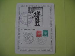 Carte-Lettre  - Journée Du Timbre  1943  Saint-Lo   Type Pétain - France