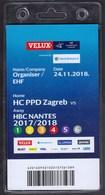 Croatia Zagreb 2018 / Handball / Accreditation / Organiser EHF / HC PPD Zagreb - HBC Nantes - Handball