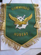 FANION DES COMMANDOS MARINE COMMANDO HUBERT EN CANNETILLE ETAT EXCELLENT - Armée De Terre